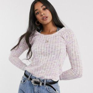 Free People We The Free Spaced Out Knit Top Sz Sm